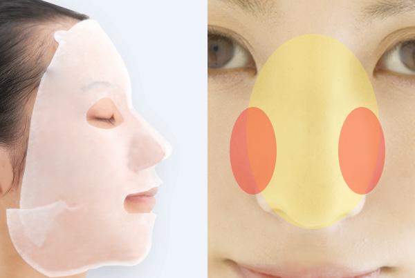 全方位紧密包覆,一次性彻底护理鼻翼、法令纹、毛孔肌,且能提拉面部轮廓。